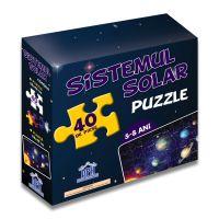 Sistemul Solar, puzzle cu afis, 40 piese