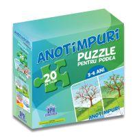 DPH4910_001w Puzzle podea cu afis, Anotimpuri, 20 piese