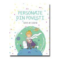 Personaje din povesti, carte de colorat