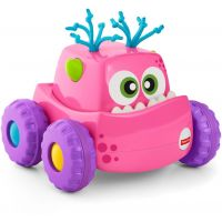 DRG16_2018_002w Jucarie pentru bebelusi masinuta monstrulet Fisher Price, Roz, DRG14