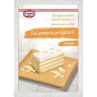 DRQ101_001w Foi simple pentru prajituri Dr Oetker, 440 g