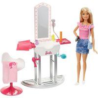 DVX51_020w Set papusa Barbie si accesorii pentru coafor, FJB36