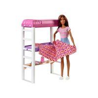 DVX51_022w Set papusa Barbie si accesorii dormitor, FXG52