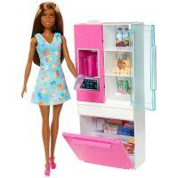 DVX51_026w Set papusa Barbie si accesorii pentru frigider, GHL85