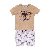 20212030 Set tricou cu maneca scurta si pantaloni scurti Dirkje Elephant E38655-31