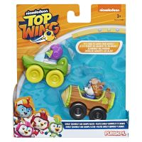 E5282 Shirley Squirreley si Chomps Set 2 figurine cu vehicul Top Wing, Shirley Squirreley si Chomps (E5817)