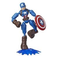 E7377_002w Figurina flexibila Avengers Bend and Flex, Captain America (E7869)