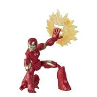 E7377_003w Figurina flexibila Avengers Bend and Flex, Iron Man (E7870)