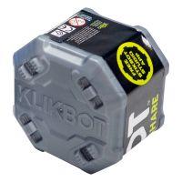 EB006 Figurina Surpriza robot articulat transformabil in capsula Klikbot, Grey