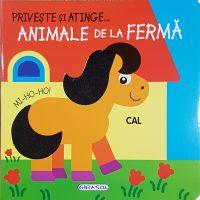 EG0433_001w Carte Editura Girasol, Priveste si atinge, Animale de la ferma