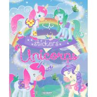 EG0440_001w Carte Editura Girasol, Unicorns Stickers, Albastru