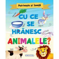 EG0587_001w Carte Editura Girasol, Potriveste si invata - Cu ce se hranesc animalele