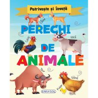 EG0600_001w Carte Editura Girasol, Potriveste si invata - Perechi de animale