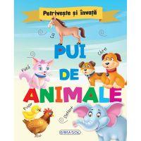 EG0617_001w Carte Editura Girasol, Potriveste si invata - Pui de animale