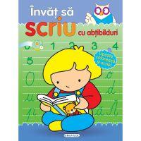 EG5230_001Invat sa scriu cu abtibilduri Girasol, Cuvinte, Litere, Numere si Ore