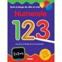 EG8181_001w Carte Editura Girasol, Scrie si sterge de cate ori vrei! Numerele