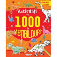 EG9997_001w Carte Editura Girasol, Activitati cu 1000 de abtibilduri - Dinozauri