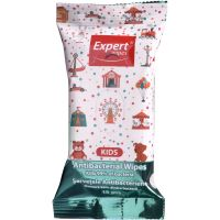 EW-2237_001w Servetele antibacteriene Exper Wipes Kids, 15 buc