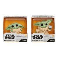 F1255_001w Set 2 figurine Star Wars, Baby Yoda, The Child, Holdme Balltoy, 5 cm