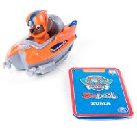 Figurina cu vehicul de salvare tip barca Paw Patrol, Zuma