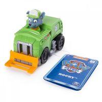 Figurina cu vehicul de curatenie Paw Patrol - Rocky