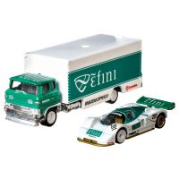 FLF56 GJT36 Transportator cu masinuta Hot Wheels, Mazda 787B, Sakura Sprinter, 164