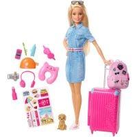 FWV25_001w Papusa Barbie Travel cu accesorii de calatorie