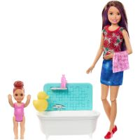 FXH05_001w Set Papusa Barbie Family, Facem baita