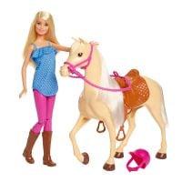 FXH13_001w Set de joaca Barbie, Papusa si calut