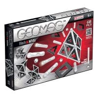 GEOM012_001w Joc de constructie magnetic Geomag Black and White, 68 piese