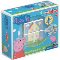 GEOM050_001w Joc de constructie magnetic Magic Cube, Peppa Pig House