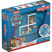 GEOM077_001w Joc de constructie magnetic Magic Cube, Paw Patrol, Chase, Skye and Rocky