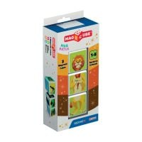 Joc de constructie magnetic Magic Cube Blister, Animale din savana