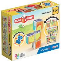 GEOM132_001w Joc de constructie magnetic Magic Cube, Animal Friends