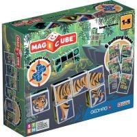 GEOM145_001w Joc de constructie magnetic Magic Cube, Jungle Animals