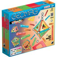 GEOM350_001w Joc de constructie magnetic Geomag Confetii, 32 piese