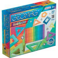 GEOM370_001w Joc de constructie magnetic Geomag Rainbow, 32 piese