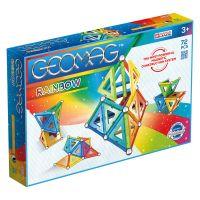Joc de constructie magnetic Geomag Rainbow, 72 piese