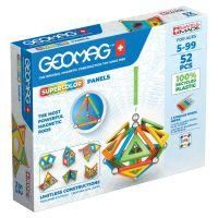 Joc de constructie magnetic Geomag Supercolor, 52 piese