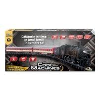 INT4050_001w Trenulet electric cu locomotiva din aliaj, cu lumina, aburi si sunete Cool Machines