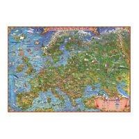GHECP50N_001w Harta Europei pentru copii Eurodidactica