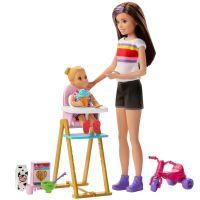 GHV87_001w Set Papusa Barbie Family, Mamica si bebelus