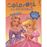 Girasol - Colorati cu abtibilduri 1 - Printese