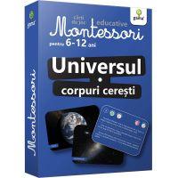 Carti de joc educative Montessori, Universul, Corpuri ceresti 6-12 ani