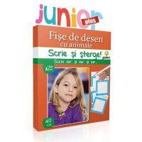 Editura Gama, Scrie si sterge Junior Plus, Desen, Fise cu animale