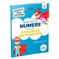 Activitati cu numere si alte concepte matematice 3-5 ani. Rezolv fara ajutor!