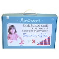 Descopar cifrele. Kit de invatare rapida a numerelor si operatiilor matematice, Montessori