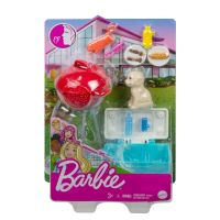 GRG75 GRG76 Set de joaca Barbie, Mobilier exterior si catelus, GRG76
