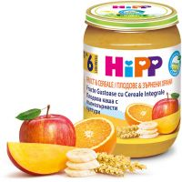 Gustare HiPP din fructe si cereale, 190 g