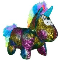 INT0304_001w Jucarie de plus Noriel, Unicorn, Multicolor, 24 cm